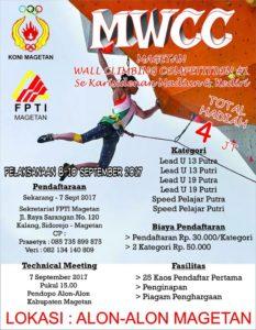 Kompetisi Panjat dinding Se Karisidenan Madiun & Kediri