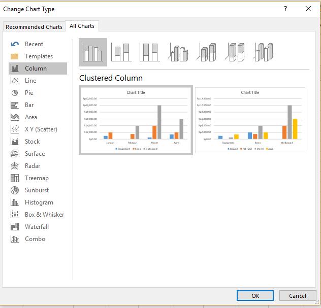 grafik excel, cara membuat grafik di excel dengan banyak data, cara membuat grafik di excel