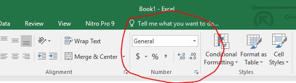 format angka excel
