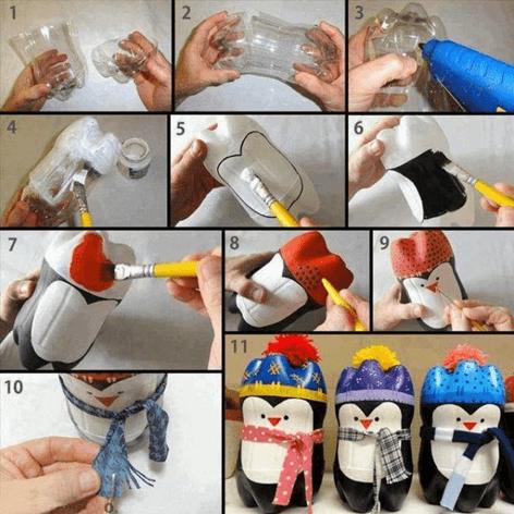 kerajinan tangan, kerajinan tangan dari botol bekas